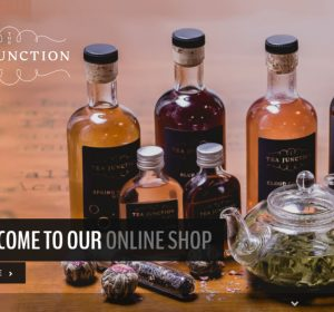 <span>Tea Junction Online Store</span><i>→</i>